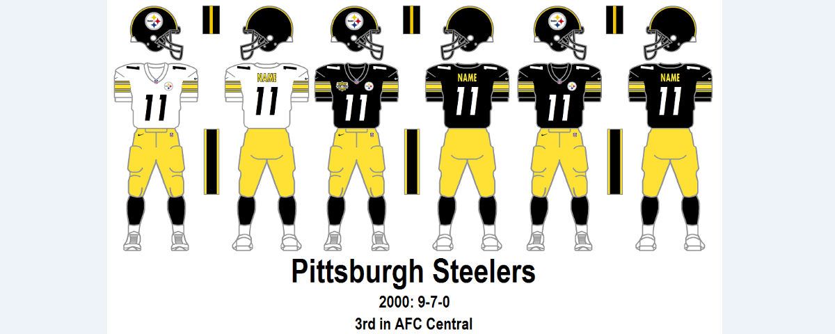 Cheap Pittsburgh Steelers Jersey 3Rd in AFC Central