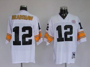 new york a2f04 33706 Mitchell & Ness Steelers #12 Terry Bradshaw White Stitched ...