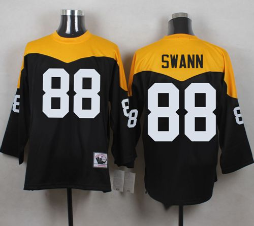 huge selection of ecb58 fe012 Mitchell And Ness 1967 Steelers #88 Lynn Swann Black Yelllow ...